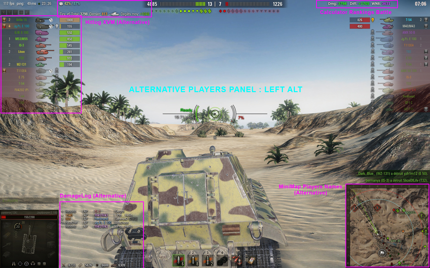 free camera mod for wot
