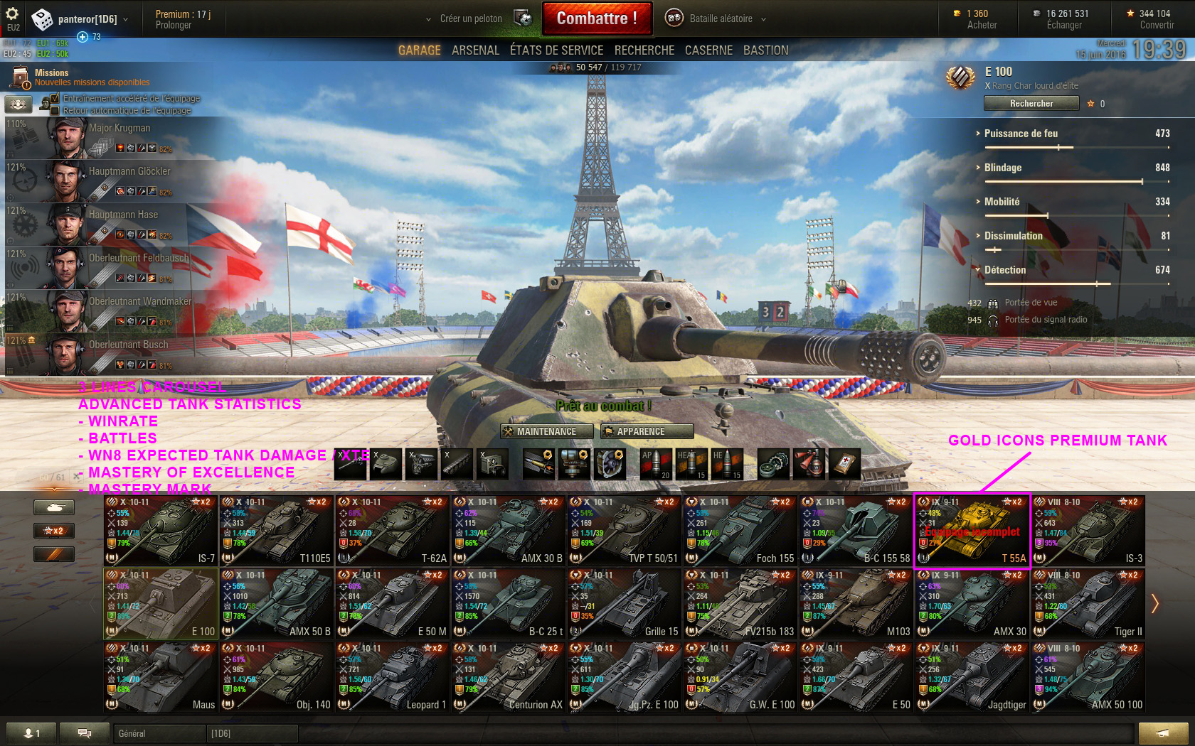 world of tanks free camera mod how to activate